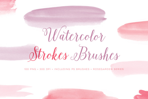 Pink Watercolor Photoshop Brushes Strokes Graphic Brushes By By Lef