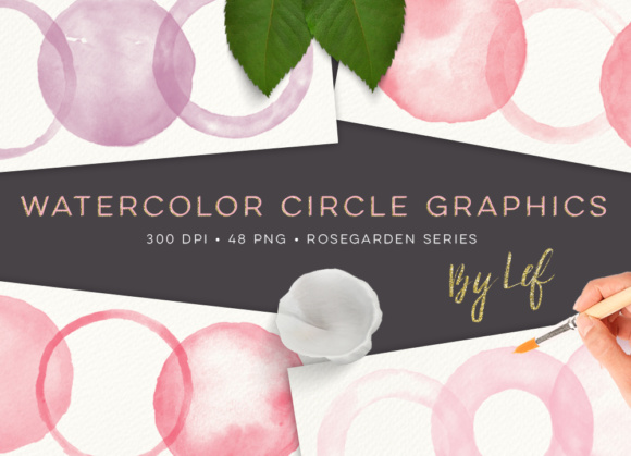 Pink Watercolor Clip Art Graphics - 48 High Resolution PNG Graphic Objects By By Lef