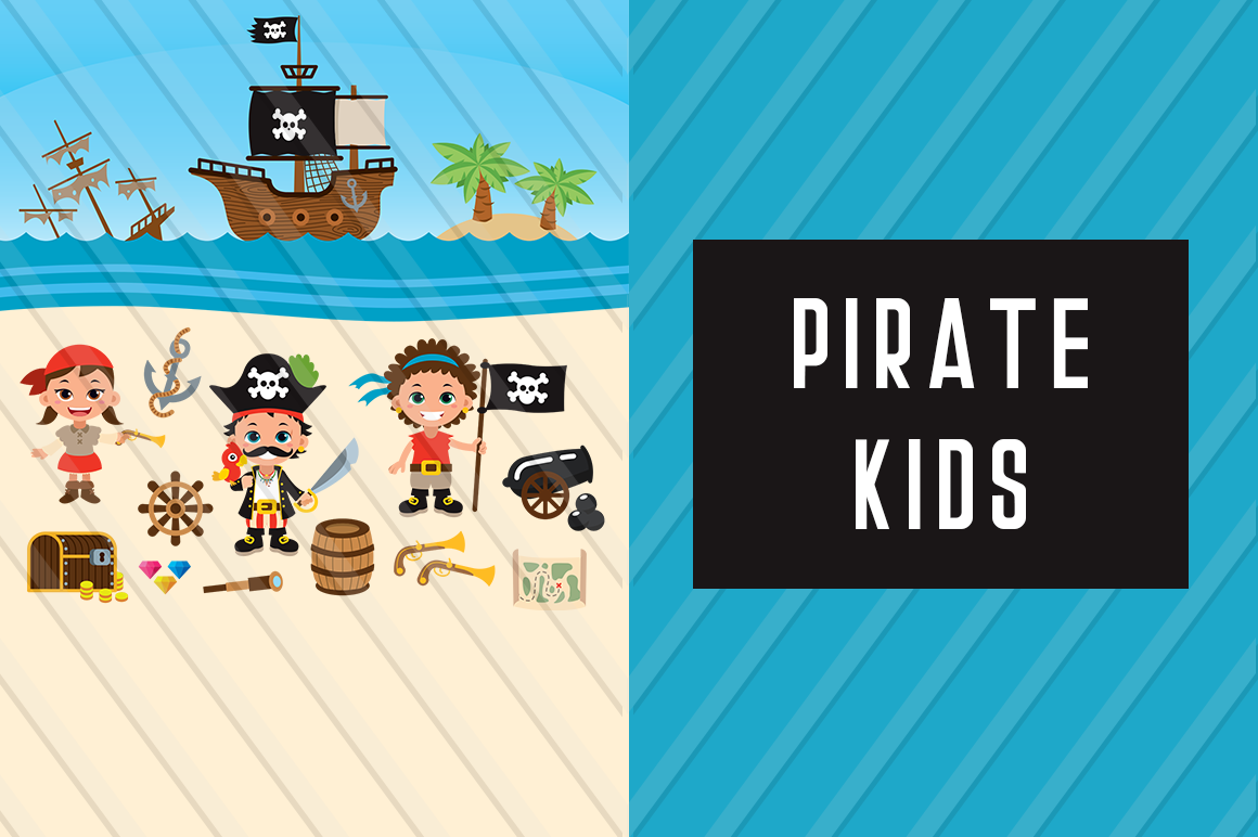 Download Free Pirates Vector Clipart Graphic By Backthemc Creative Fabrica for Cricut Explore, Silhouette and other cutting machines.