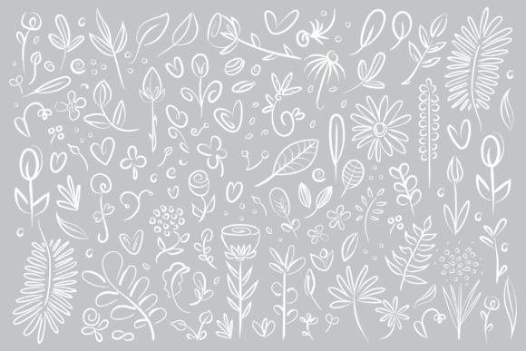 Print on Demand: Plant & Flower Specimen Doodle Clip Art Set Graphic Illustrations By Running With Foxes - Image 3