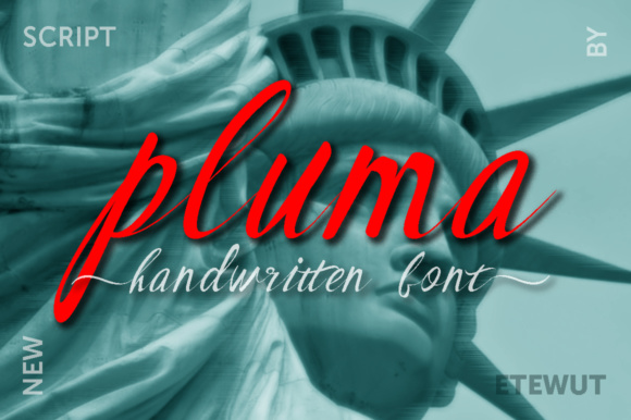 Print on Demand: Pluma Script & Handwritten Font By Etewut