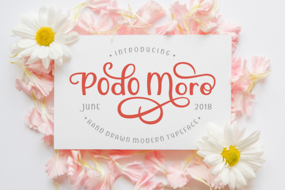 Print on Demand: Podo Moro Script & Handwritten Font By Rifki (7ntypes)