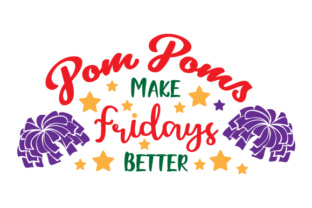 Pom Poms Make Fridays Better Craft Design By Creative Fabrica Crafts