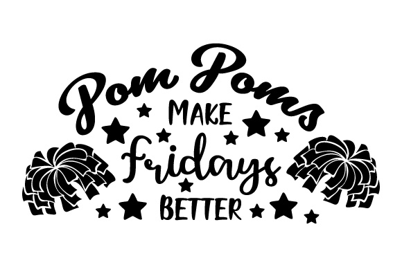 Download Free Pom Poms Make Fridays Better Svg Cut File By Creative Fabrica for Cricut Explore, Silhouette and other cutting machines.