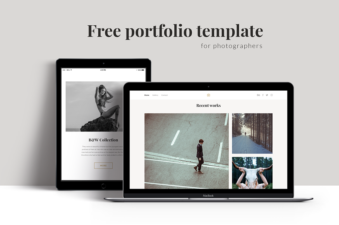 Download Free Portfolio Template Graphic By Creative Fabrica Freebies SVG Cut Files