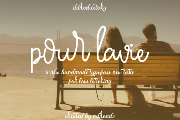 Print on Demand: Pour La Vie Script & Handwritten Font By Ndroadv