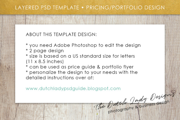 Print on Demand: Price List & Portfolio Page for Photographers Graphic Presentation Templates By daphnepopuliers - Image 5