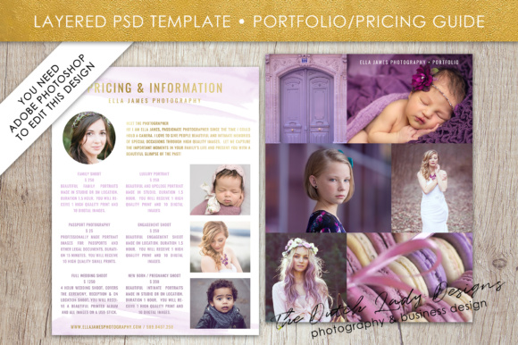 Print on Demand: Price List & Portfolio Page for Photographers Graphic Presentation Templates By daphnepopuliers