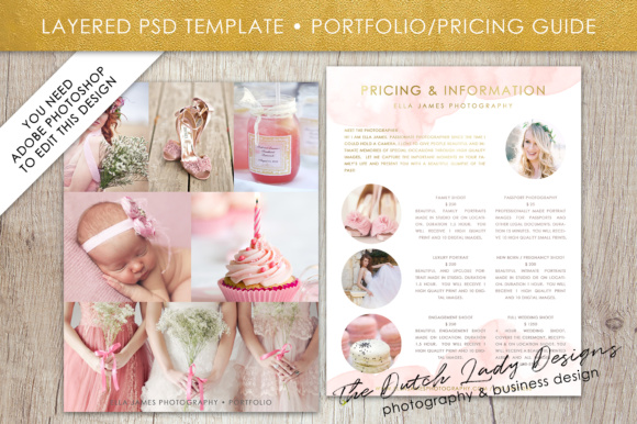 Price List & Portfolio Page for Photographers Graphic By daphnepopuliers Image 2
