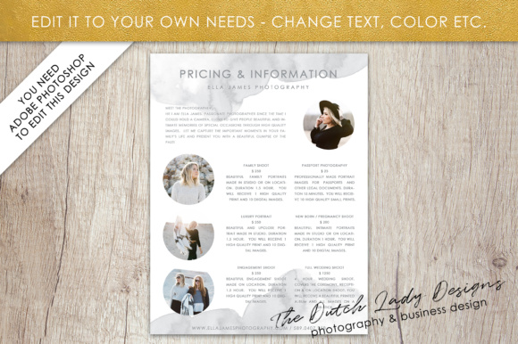 Price List & Portfolio Page for Photographers Graphic By daphnepopuliers Image 3