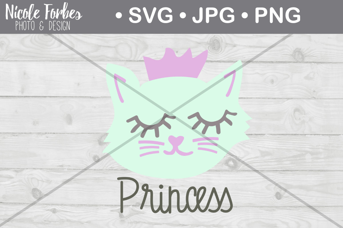 Download Free Princess Cat Cut File Graphic By Nicole Forbes Designs Creative Fabrica for Cricut Explore, Silhouette and other cutting machines.