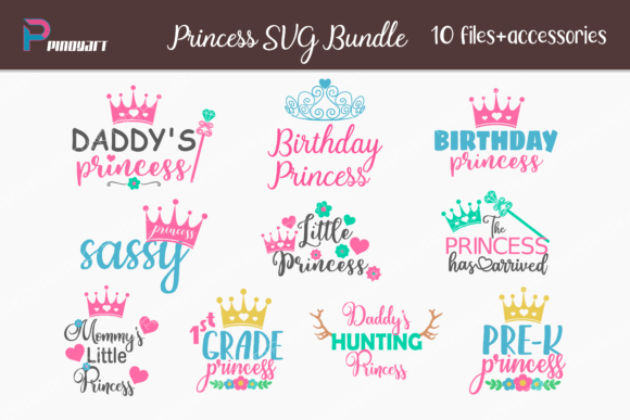 Download Free Princess Bundle Graphic By Pinoyartkreatib Creative Fabrica for Cricut Explore, Silhouette and other cutting machines.