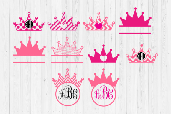 Download Free Priness Crown Cut Files Graphic By Cutperfectstudio Creative for Cricut Explore, Silhouette and other cutting machines.