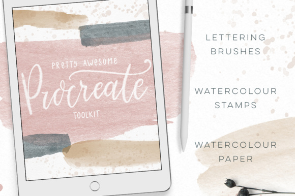 Procreate Lettering Watercolor Brush Set Graphic Brushes By By Lef