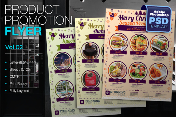 Product Promotion Flyer Graphic Print Templates By KitCreativeStudio