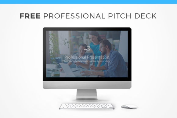 Professional Pitch Deck for Keynote Graphic Presentation Templates By Creative Fabrica Freebies