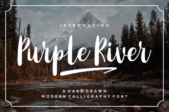 Print on Demand: Purple River Script & Handwritten Font By Keithzo (7NTypes) - Image 1