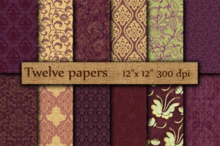 Purple Digital Papers Graphic Backgrounds By twelvepapers