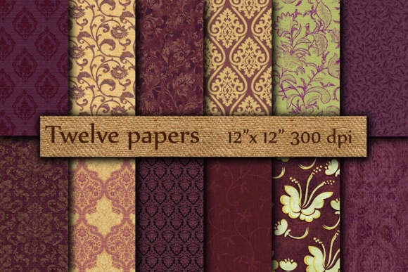 Purple Digital Papers Graphic By twelvepapers