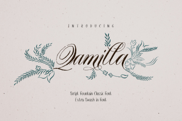 Print on Demand: Qamilla Script & Handwritten Font By mcjer.studio