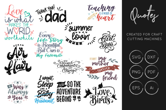 Print on Demand: Inspirational Quotes Bundle SVG Graphic Crafts By illuztrate