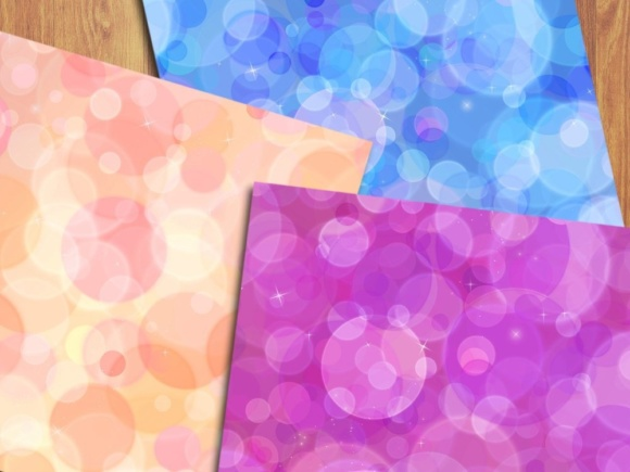 Rainbow Bokeh Digital Papers Graphic Backgrounds By GreenLightIdeas - Image 3