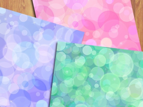 Rainbow Bokeh Digital Papers Graphic Backgrounds By GreenLightIdeas - Image 4