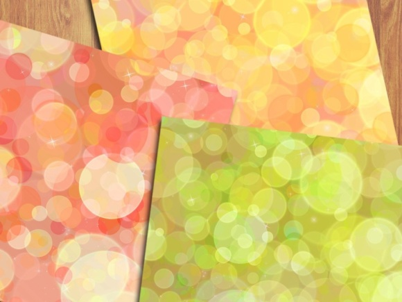 Rainbow Bokeh Digital Papers Graphic Backgrounds By GreenLightIdeas - Image 5