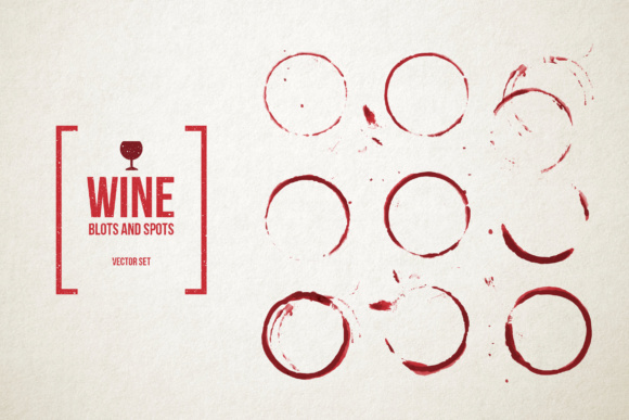 Red Wine Stains Vector Set Graphic Textures By hellokisdottir
