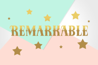 Remarkable Font By Silhouette America, Inc.