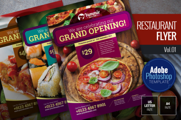 Restaurant Flyer Graphic Print Templates By KitCreativeStudio - Image 1