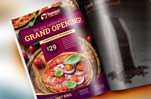 Restaurant Flyer Graphic Print Templates By KitCreativeStudio - Image 2