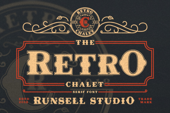 Print on Demand: Retro Chalet Display Font By Runsell Graphic