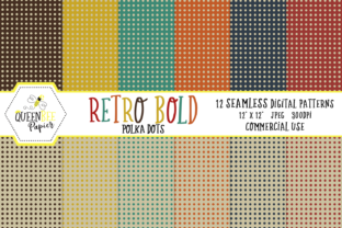 Retro Seamless Polka Dots Digital Paper Graphic By Queen Bee Papier