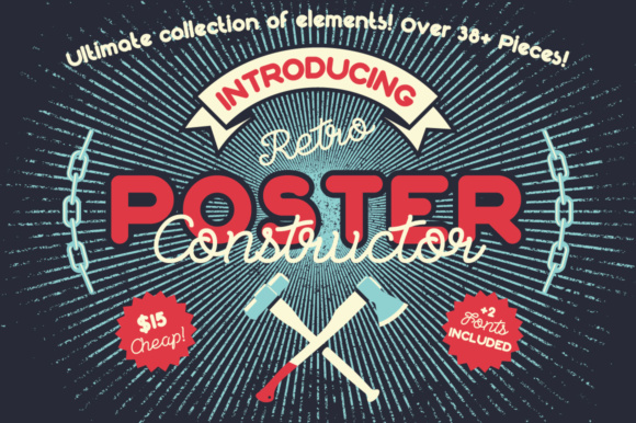 Print on Demand: Retro Poster Constructor Graphic Scene Generators By NREY