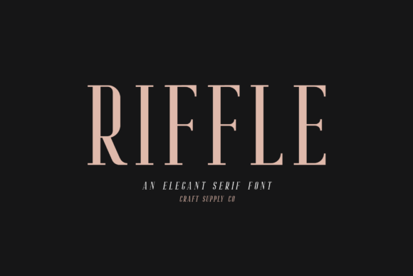 Print on Demand: Riffle Serif Font By craftsupplyco