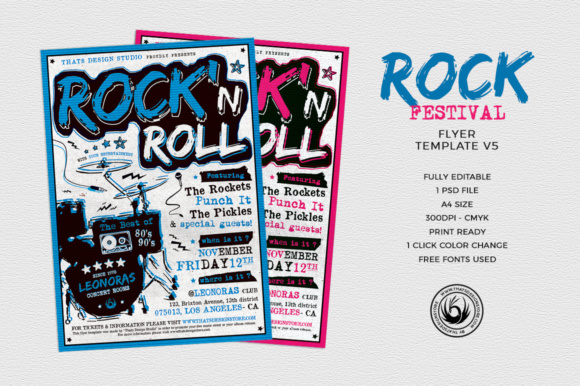 Rock Festival Flyer Template Graphic By ThatsDesignStore