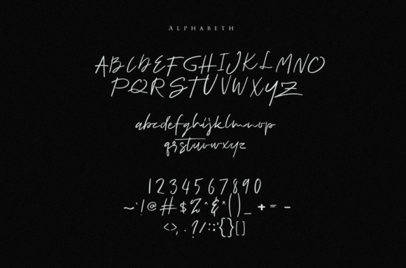 Print on Demand: Romano Script & Handwritten Font By I Do Not Sleep - Image 3