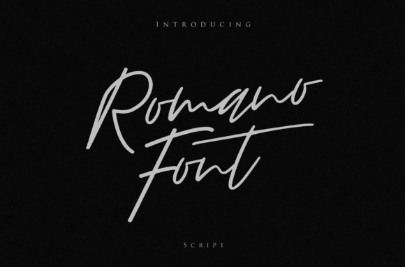 Print on Demand: Romano Script & Handwritten Font By I Do Not Sleep - Image 1