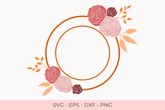 Rose Flowers Frames Svg Graphic by Little Craft Fun - Creative Fabrica