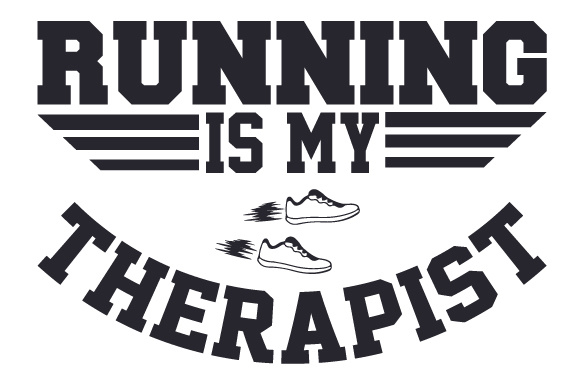 Download Free Running Is My Therapist Svg Cut File By Creative Fabrica Crafts for Cricut Explore, Silhouette and other cutting machines.