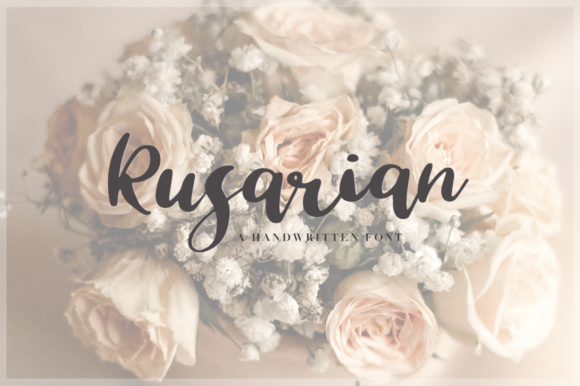 Print on Demand: Rusarian Script & Handwritten Font By Pasha Larin