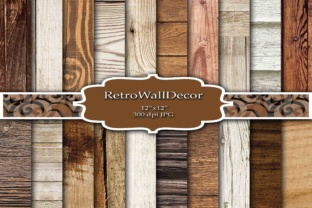 Print on Demand: Rustic Wood Digital Papers Graphic Backgrounds By retrowalldecor