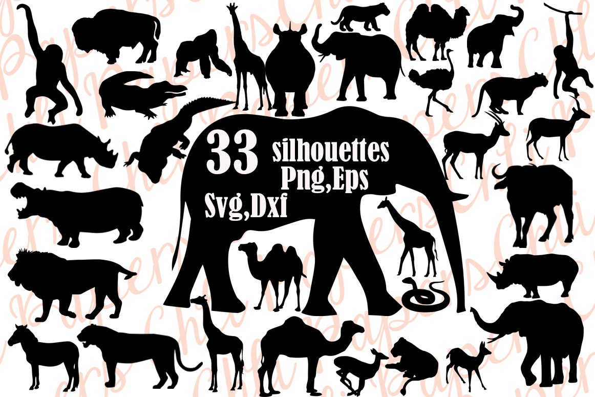 Download Free Safari Animals Silhouette Bundle Graphic By Chilipapers for Cricut Explore, Silhouette and other cutting machines.