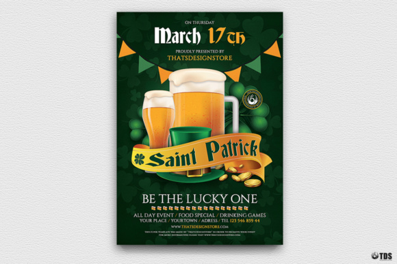Saint Patricks Day Flyer Template Graphic By ThatsDesignStore