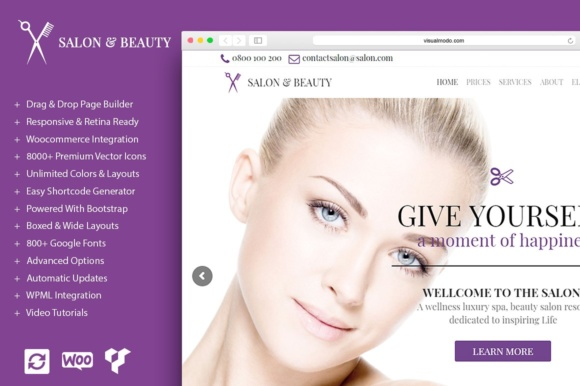 Salon - Beauty WordPress Theme Graphic By Visualmodo WordPress Themes