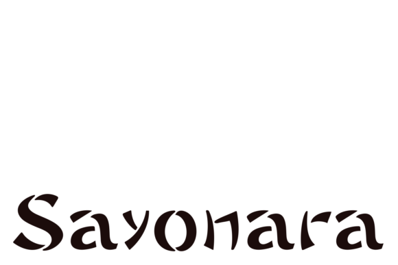 Sayonara Family Display Font By Intellecta Design