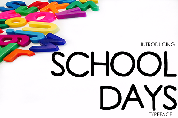 Print on Demand: School Days Sans Serif Font By yh.seaofknowledge - Image 1