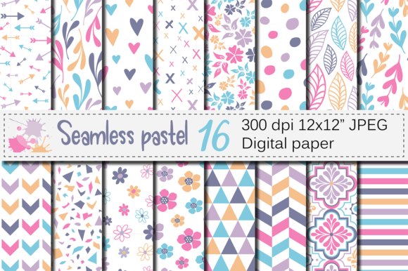 Download Free Blue And Yellow Seamless Digital Paper Graphic By Vr Digital for Cricut Explore, Silhouette and other cutting machines.