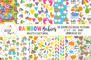 Seamless Rainbow Baby Digital Paper Graphic By Queen Bee Papier